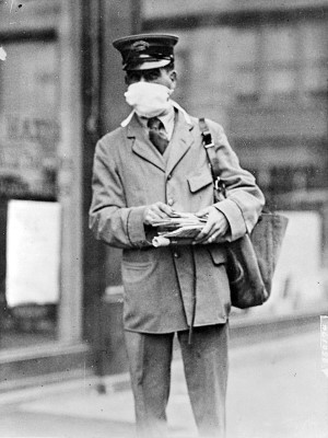postal carrier with a mask300