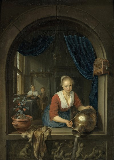 siftingthepast maid at the window gerard dou 1660400